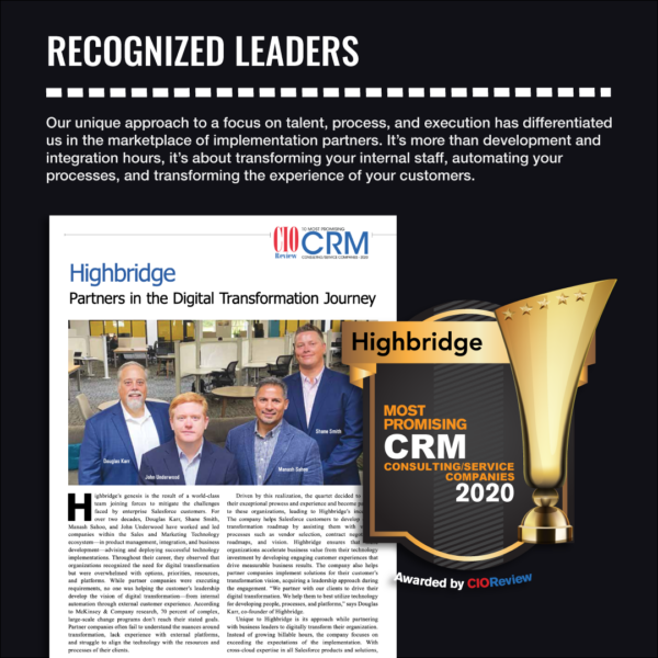 Recognized Leaders in Digital Transformation